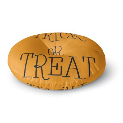 Trick or Treat - Round Floor Pillow Size: 23 x 23, Color: Brown/Black