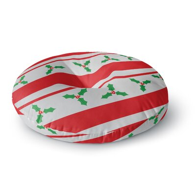 Holiday Holly Christmas Holiday Round Floor Pillow Size: 23 x 23