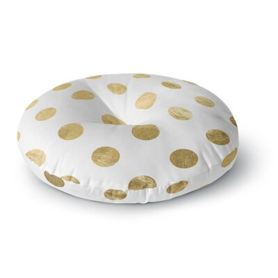 Scatte Round Floor Pillow Size: 26 x 26, Color: White