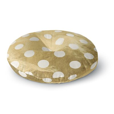 Scatte Round Floor Pillow Size: 26 x 26, Color: Gold