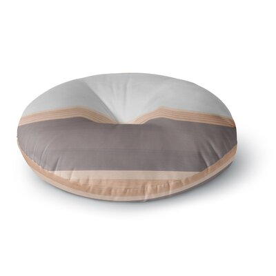 Spring Swatch - Wood Round Floor Pillow Size: 26 x 26