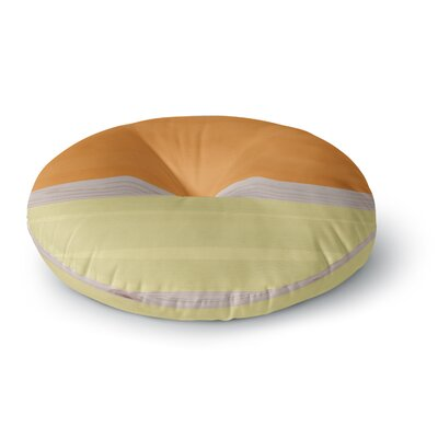 Spring Swatch -Gerine Custard Round Floor Pillow Size: 23 x 23