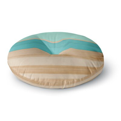 Spring Swatch - Wood Round Floor Pillow Size: 23 x 23