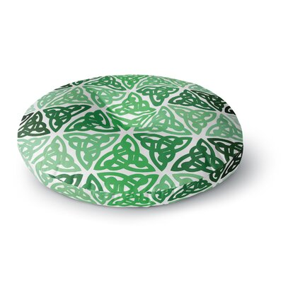 Celtic Knot Forest Round Floor Pillow Size: 23 x 23