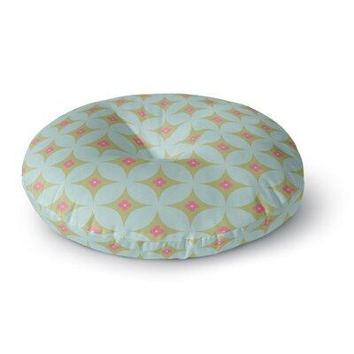 Retro Aquamarine Round Floor Pillow Size: 26 x 26