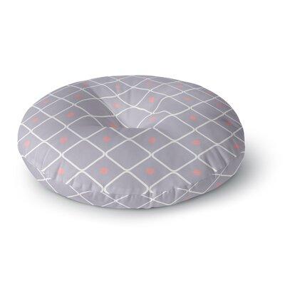 Lilac Web Lavendar Round Floor Pillow Size: 26 x 26