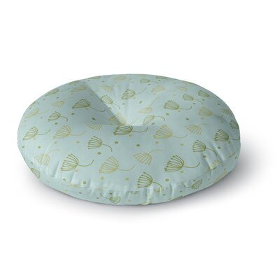 Floating Dandelion Round Floor Pillow Size: 23 x 23