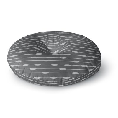 Chalk Eggs Round Floor Pillow Size: 26 x 26