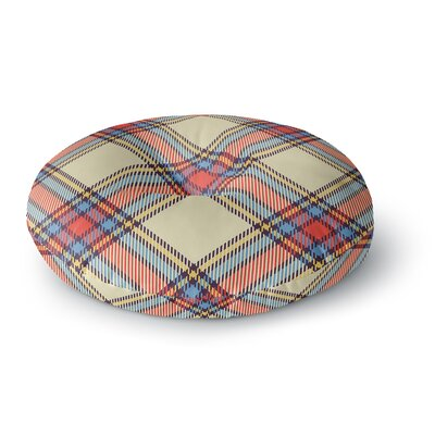 Sunday Brunch Plaid Tartan Round Floor Pillow Size: 23 x 23