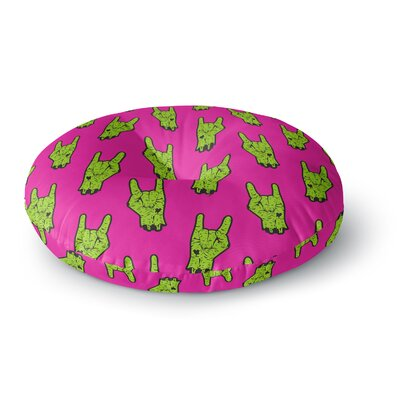 Zombie Rock Round Floor Pillow Size: 23 x 23