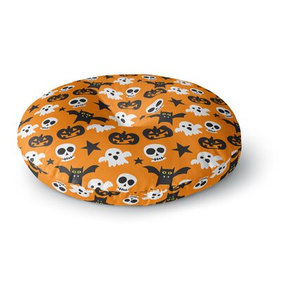 Spooktacular Halloween Pattern Round Floor Pillow Size: 26 x 26