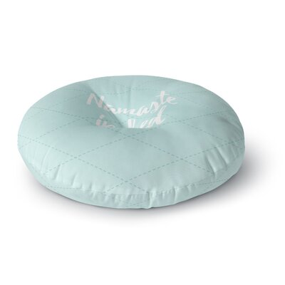 Namaste In Bed Round Floor Pillow Size: 26 x 26, Color: Blue