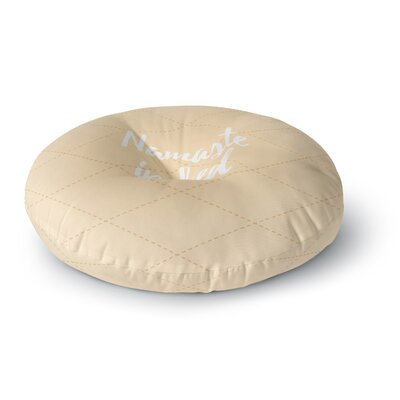 Namaste In Bed Round Floor Pillow Size: 23 x 23, Color: Tan