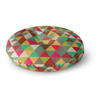 Autumn Triangle Spectrum Geometric Round Floor Pillow Size: 26 x 26