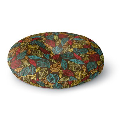 Leaves All Around Round Floor Pillow Size: 23 x 23
