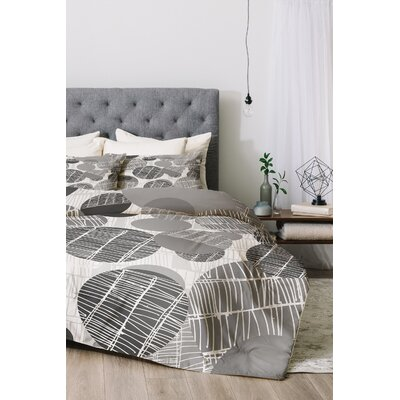 Textured Geo Duvet Cover Set Color: Gray, Size: King