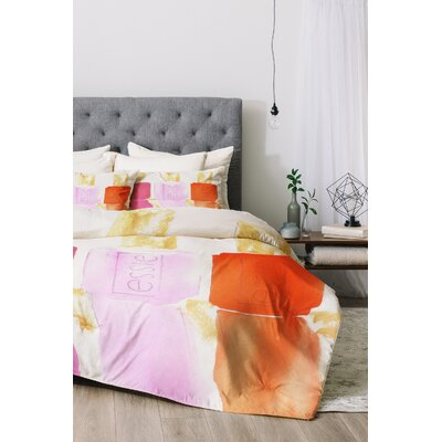 Essie Duvet Cover Set Size: King, Color: Pink