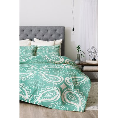 Duvet Cover Set Size: King, Color: Seaspray