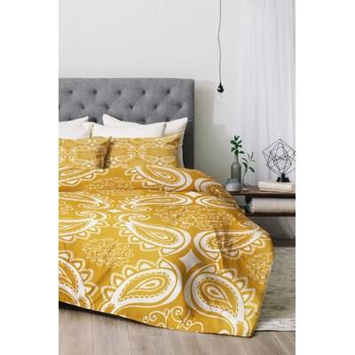 Duvet Cover Set Size: King, Color: Goldenrod