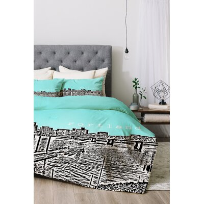 Portland Duvet Cover Set Color: Ice, Size: Queen