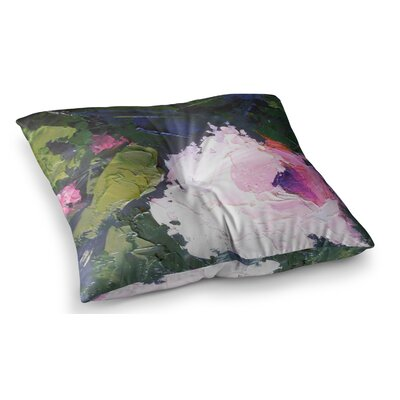 Textured Rose Painting by Carol Schiff Floor Pillow Size: 23 x 23
