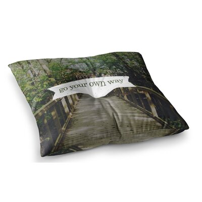 Go Your Own Way Nature by Chelsea Victoria Floor Pillow Size: 23 x 23