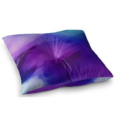 Water Painting by Chelsea Victoria Floor Pillow Size: 26 x 26