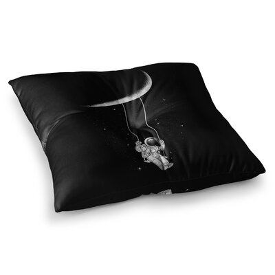 Moon Swing Fantasy Illustration by Digital Carbine Floor Pillow Size: 26 x 26