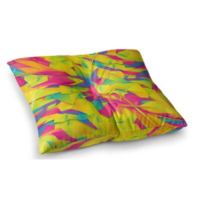 Bubble Gum Explosion by Danny Ivan Floor Pillow Size: 23 x 23