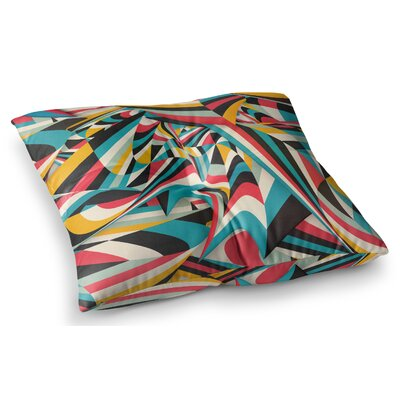 Dont Come Close Abstract by Danny Ivan Floor Pillow Size: 26 x 26