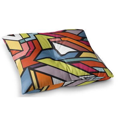 Abstract Shapes by Danny Ivan Floor Pillow Size: 26 x 26