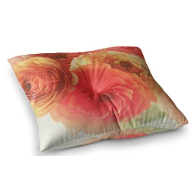 Ranunculus Floral by Debbra Obertanec Floor Pillow Size: 26 x 26
