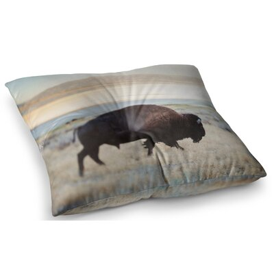 Buffalo Bill Nature Photography by Chelsea Victoria Floor Pillow Size: 26 x 26