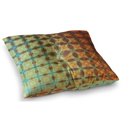 Colorful Grid Digital by Cvetelina Todorova Floor Pillow Size: 26 x 26