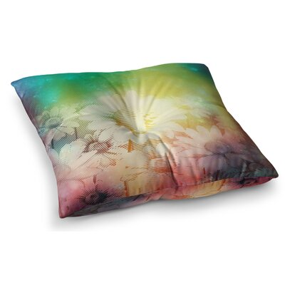 Magic Garden Mixed Media by Cvetelina Todorova Floor Pillow Size: 26 x 26