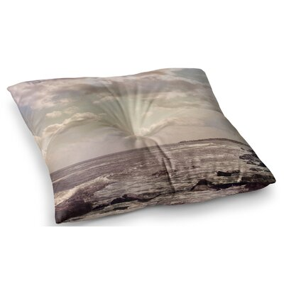 Rocky Coast Sea View by Debbra Obertanec Floor Pillow Size: 23 x 23