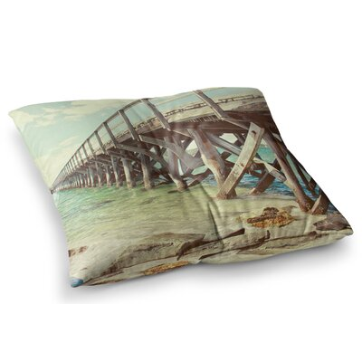 On the Pier Beach by Debbra Obertanec Floor Pillow Size: 26 x 26