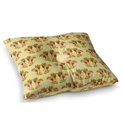 Curvaceous by Dan Sekanwagi Floor Pillow Size: 26 x 26