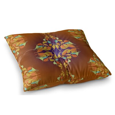 Feast Abstract by Dan Sekanwagi Floor Pillow Size: 26 x 26