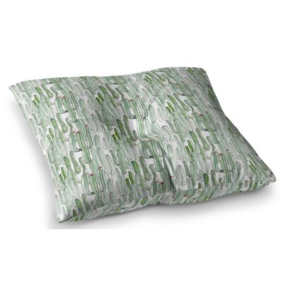 Cacti Illustration by Danii Pollehn Floor Pillow Size: 26 x 26