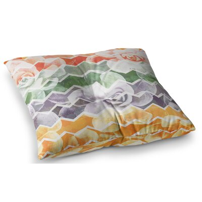 Desert Dreams Chevron by Daisy Beatrice Floor Pillow Size: 23 x 23