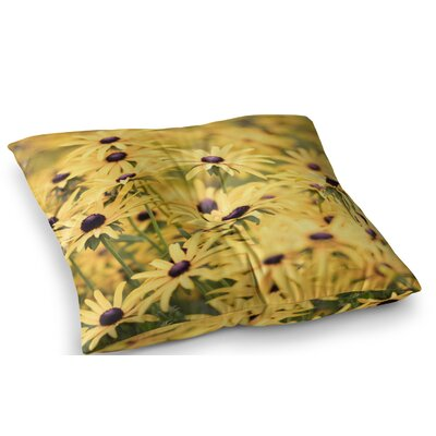 Pantone Flower Daisy by Debbra Obertanec Floor Pillow Size: 26 x 26