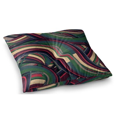 Swirl Madness Geometric by Danny Ivan Floor Pillow Size: 23 x 23