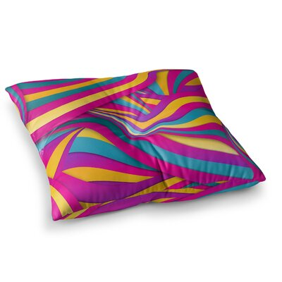 Swirls Everywhere by Danny Ivan Floor Pillow Size: 23 x 23