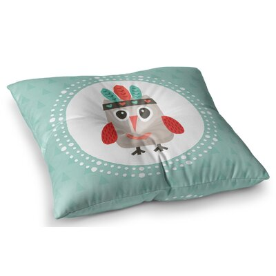 Hipster Owlet by Daisy Beatrice Floor Pillow Size: 26 x 26