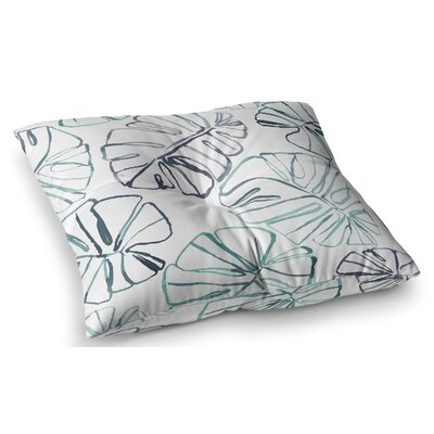 Monstera Illustration by Danii Pollehn Floor Pillow Size: 26 x 26