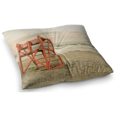 Dusk at the Beach Ocean by Debbra Obertanec Floor Pillow Size: 23 x 23
