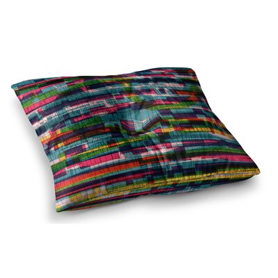 Squares Traffic by Frederic Levy-Hadida Floor Pillow Size: 26 x 26, Color: Multi