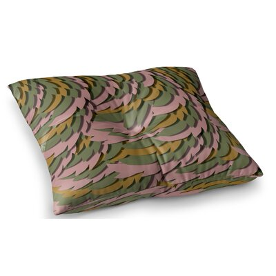 Wings by Akwaflorell Floor Pillow Size: 23 x 23, Color: Pink/Green
