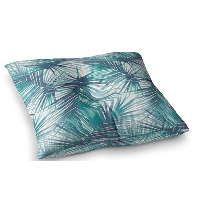 Palm Tree Branches Illustration by Danii Pollehn Floor Pillow Size: 26 x 26